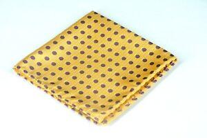 Lord-R-Colton-Masterworks-Pocket-Square-Moscow-Saffron-Woven-Silk-75-New