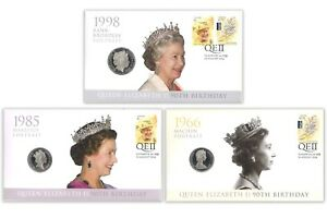 Australia-2016-Queen-Elizabeth-II-90th-Birthday-Stamp-amp-Coin-Cover-PNC-Set-of-3