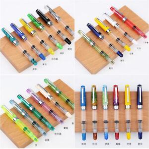 Penbbs 309 Transparent Optional Piston Fountain Pen Fine Nib 0.5mm Gifts Chic #J