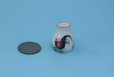 1:12 Scale Dollhouse Miniature Porcelain Cockerel//Rooster Vase #MMP032