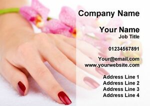 Pretty nail salon manicure pedicure personalised business cards ebay image is loading pretty nail salon manicure pedicure personalised business cards colourmoves