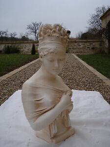 Buste-Juliette-Recamier-par-Chinard-reproduction-patine-couleur-pierre
