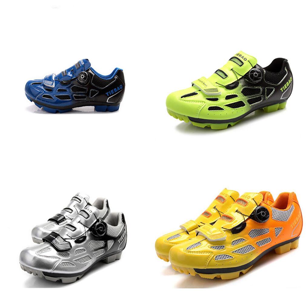 Tiebao Calzado para Ciclismo Bicicleta De Montaña Bicicleta de sistema para Shimano SPD zapatos de bicicleta de bloqueo de bloqueo