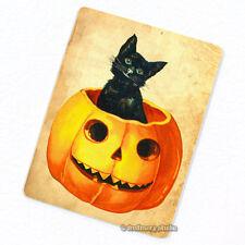 Jack in the Pumpkin Deco Magnet, Decorative Fridge Black Cat Holloween Mini Gift