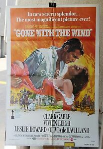 Gone with The Wind Original Movie Poster 1974 Vintage ...