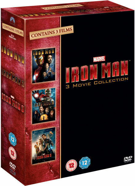 ❏ Iron Man 1-3 DVD + EXTRA CONTENT Complete Movie Collection Trilogy ❏ 1 2 3