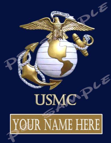 PERSONALIZED for free Flexible Fridge Magnet USMC MARINE CORPS