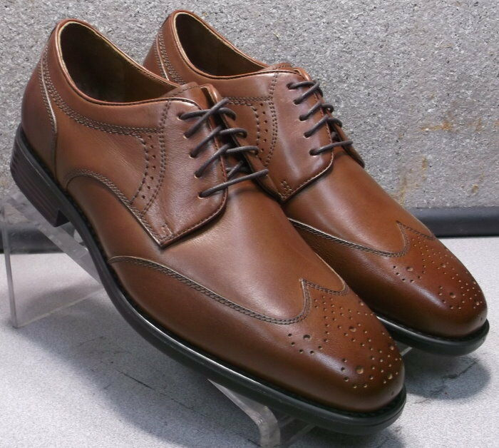 153030 MS50 Men's shoes Size 9 M Brown Leather Lace Up Johnston & Murphy