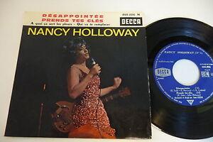 NANCY-HOLLOWAY-45T-EP-DESAPPOINTEE-DECCA-FRENCH-460-806-ORCHESTRE-JEAN-LECCIA