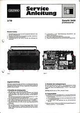 Service Manual-Anleitung für Grundig Satellit 3400