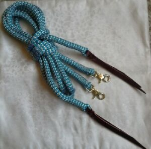 by Natural Equipment 6ft Rope Split Reins in Pink Horsemanship Western