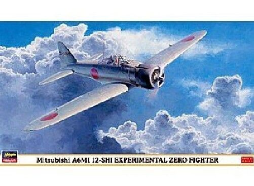 Hasegawa 1 48 Mitsubishi A6M1 12-Shi Experimental Zero Fighter Model Kit NEW