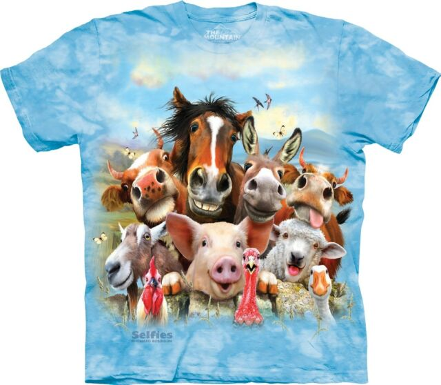 Provided The Mountain Unisex Child Farm Selfie Animal Humour T Shirt Other