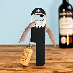 Legless-Pirat-Flaschenoeffner-Korkenzieher-Suck-UK-Hebel-Offner-Folien-Schneider