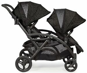 Contours-Options-Elite-Twin-Tandem-Double-Baby-Stroller-Carbon-NEW-Upgraded-2017