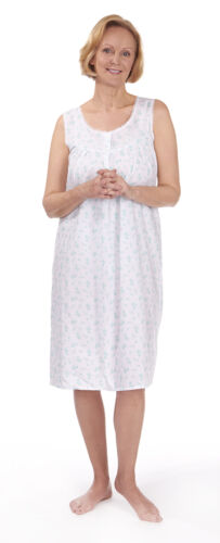 4 of 5 Womens Nightdress Cotton PJ Pyjama Nightie Ladies Night Wear Pyjamas  Sizes 10-24 495c70f54