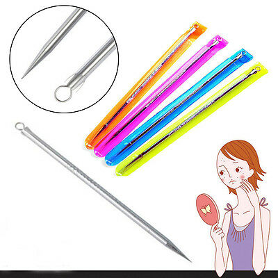 Hot 5x Acne Pimple Remover Needle Stainless Steel Blackhead Extractor Face Tool