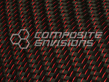 "Red Reflections™ Carbon Fiber Cloth Fabric 2x2 Twill 50"" 3k 5.9oz"