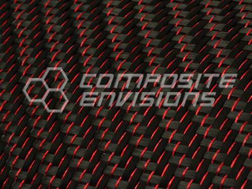Red Reflections™ Carbon Fiber Cloth Fabric 2x2 Twill 50 3k 5.9oz