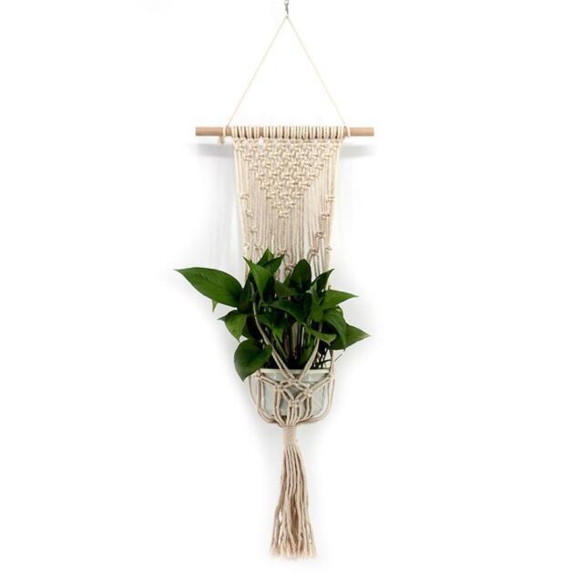 Tassel Bohemian Macrame Woven Wall Hanging Handmade Knitting Tapestry Home-Decor