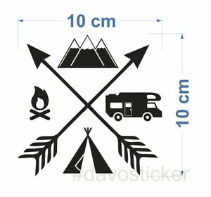 Camping Explore Sticker Aufkleber Camping Caravan Zelt Vw Bus