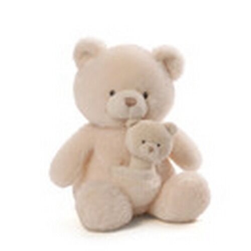 BABY GUND  - OH SO SOFT BEAR AND RATTLE COMBO - #4053992 - NWT