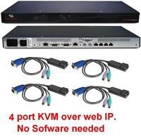 Avocent Dsr1022 Dsr1022-am 4 Port Kvm Over Ip Switch +4 Dsriq-ps2 Module