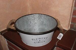 Zinkwanne♥wählbar 3 Größen♥FLOWERS /& GARDEN♥bepflanzbar o f Wasserdeko