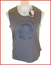 Bnwt Authentic Mens Wrangler Hero Vest Tank Top Sleeveless T Shirt Large Grey