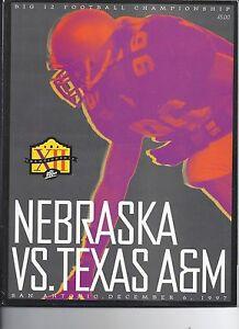 1997 Big 12 Championship Game Program Nebraska Texas A&M