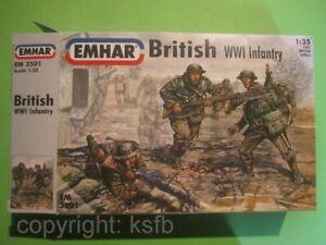 1-35-1-32-Emhar-3501-WKI-Britische-Infanterie-Soldaten-Grabenkrieg-Panzercrew