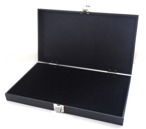 1 Wholesale Solid Top Lid Black 144 Ring Display Portable Storage Boxes Case