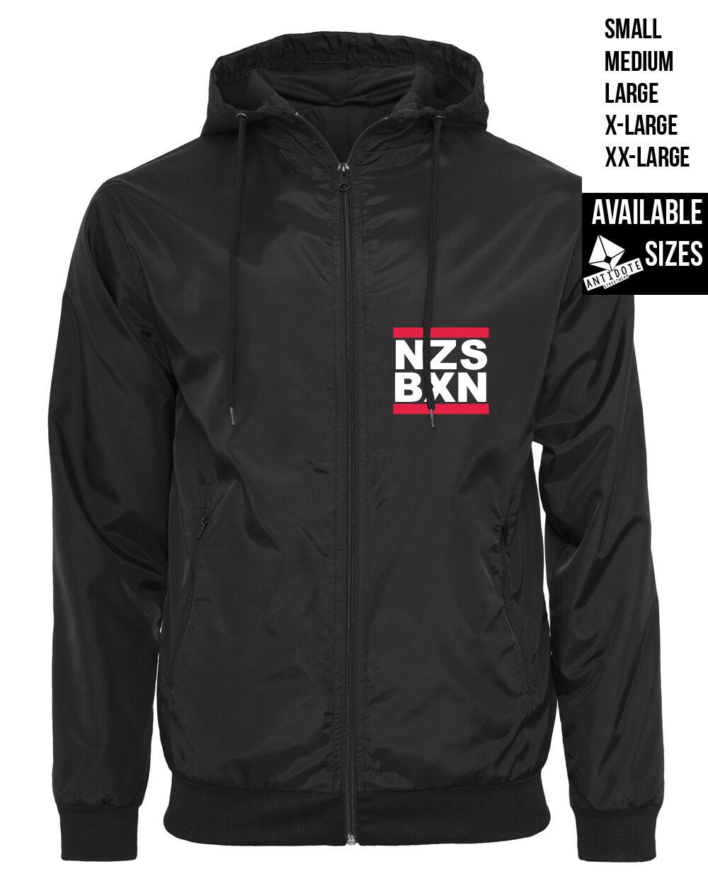 NZS BXN   WINDBREAKER  Antidote Streetwear Nazis Boxen Antifa Straight Edge Punk