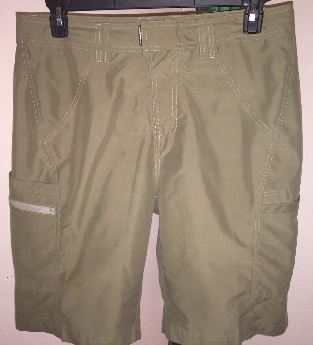 MEN'S EX OFFICIO MARLOCO WATER BOARDSHORTS HIKING SZ 34 MINT WALNUT COLOR