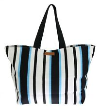 4bbb34020b70 NEW  540 DOLCE   GABBANA Bag Blue White Striped Cotton Shopping Tote Hand  Clutch