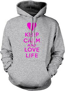 My Sweatshirt Hoodie 3 und Herz Sie Poster Behalten Genießen Liebes Live Ruhe Fullest Sie Leben AnOwfwq67