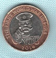 GB Elizabeth II. £2 Pounds 2014 WW1 Kitchener Your Country Needs You. Coin Hunt