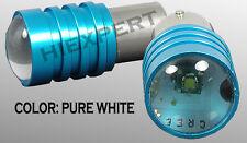 TMZ 2 pcs 1156 Plug & Play 12V LED Bulbs Socket Back Up Super White CREE N3628