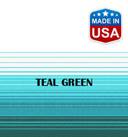 """16' RV Awning Replacement Fabric for A&E, Dometic (15'3"""") Teal Green"""