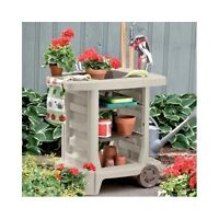Portable Garden Cart Utility Potting Rolling Bench Outdoor Gardening Yard Tools