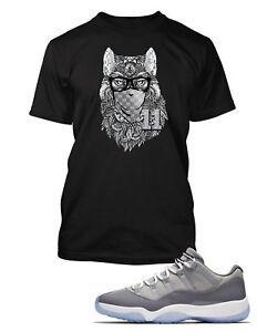 Wolf-Tee-Shirt-to-Match-Air-Jordan-11-Low-Cool-Grey-Shoe-Mens-Graphic-Pro-Club