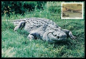 VENDA-MK-1992-KROKODILE-CROCODILE-MAXIMUMKARTE-CARTE-MAXIMUM-CARD-MC-CM-cr22