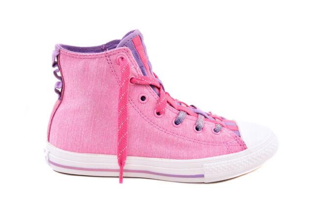 3aab1dd502c4fc Converse Junior CTAS Loopholes HI 654238C Sneakers Pink White UK 3 RRP £46  BCF81