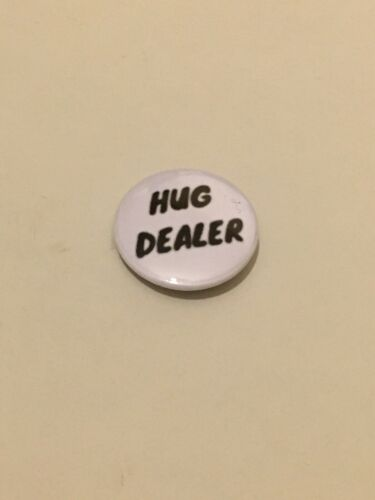 Hug Dealer Embrace Love Kind Cuddle Pin Badge 25mm Lapel Coat Unique Emblem Gift