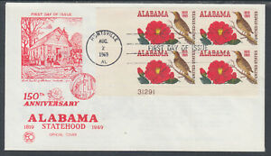 US-Planty-1375-12-FDC-1969-Alabama-Statehood-AL-Statehood-Comm-FIRST-CACHET
