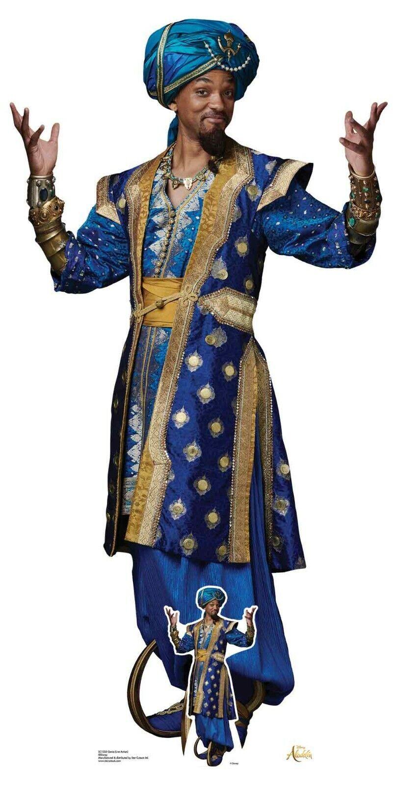 Genie From Aladdin Film Offiziell Lebensechte Größe Pappfigur - Will Smith