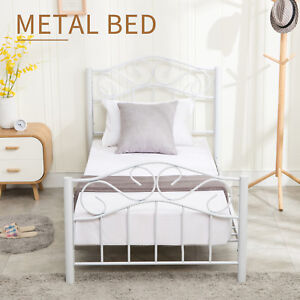 Heavy Duty Twin Size Metal Bed Frame W Headboard Footboard Girls
