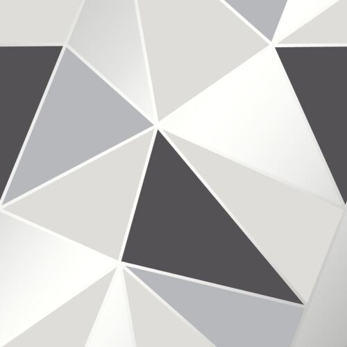 Fine Decor FD41994 de Luxe Lourd Sommet Papier Peint Géométrique Noir//Argent