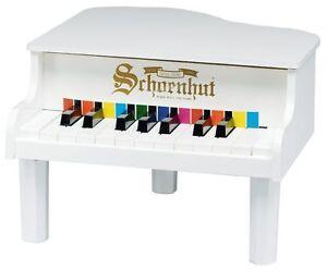 NEW-Schoenhut-18-Key-Mini-Grand-Piano-WHITE-Free-Fast-Shipping