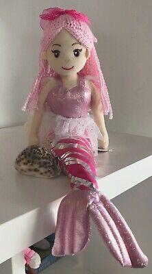 ~❤️~MERMAID DOLL Plush Soft Large 70cms Toy Pink//Rainbow MARIS NWT~❤️~
